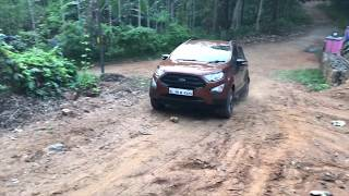 My Ford Ecosport - off road test drive climbing hill
