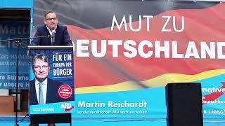 Martin Reichardt (AfD). Jetzt ist Schluss Brüssel, unser Geld, für unsere Kinder.