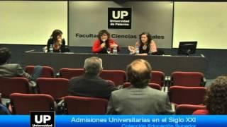 Presentación del libro: Admisiones universitarias en el siglo XXI - Parte7