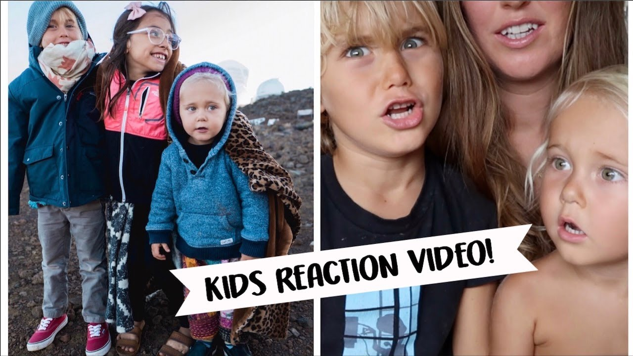 Camping in the Hawaii cold! + My kids react to the video