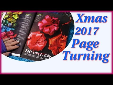 Christmas Decor & Recipes ~ Fun Decorations ~ Magazine Page Turning ASMR Soft Spoken