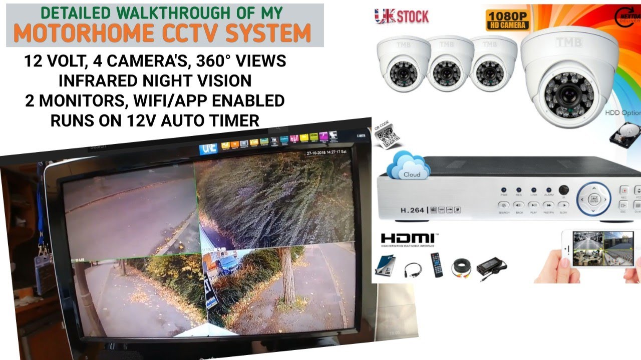Motorhome Cctv System Setup Full Time Motorhome Van Life Youtube