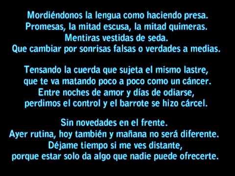 AJ - Días de odio (lyrics)