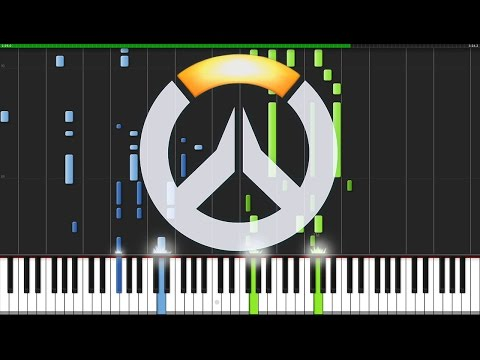 Main Theme & Victory Theme - Overwatch [Piano Tutorial] (Synthesia) // AniPiano