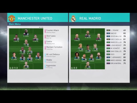 PES 2018 - Manchester United - Best Formation & Tactics