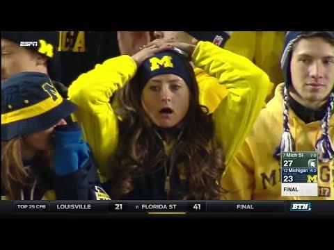 Michigan State at Michigan  Football Highlights