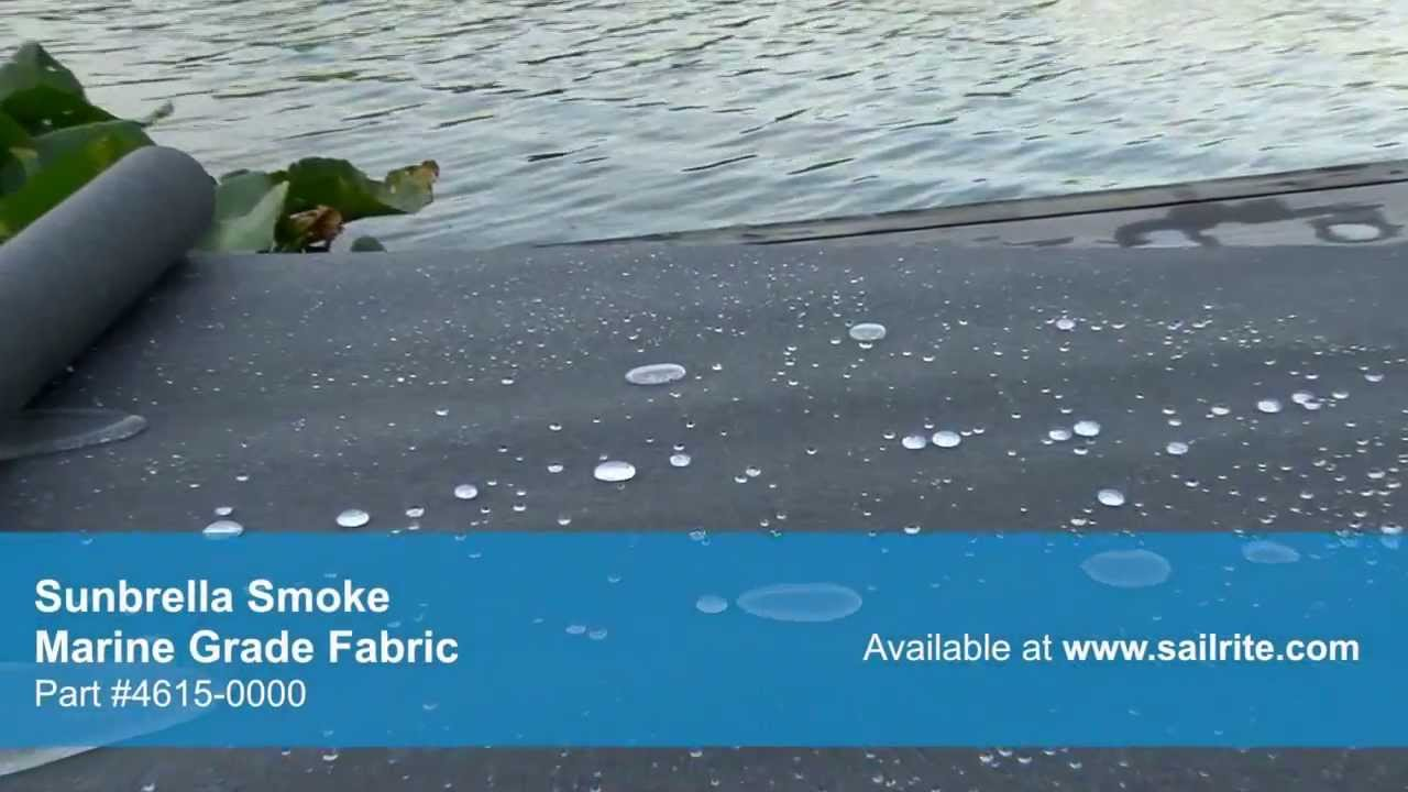 Video of Sunbrella Smoke Marine Grade Fabric 4615-0000