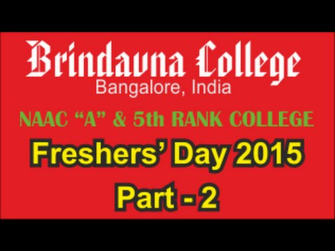 Freshers Day 2015 - Part 2