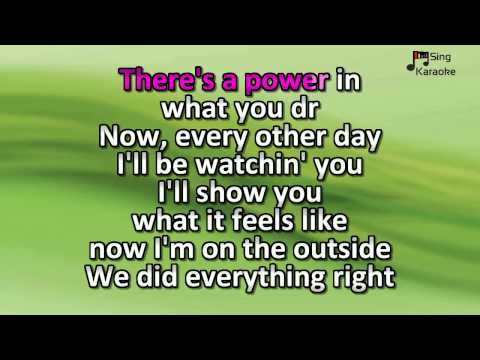 Calvin Harris feat  Ellie Goulding -  Outside karaoke version