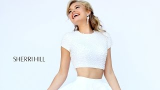 Sherri Hill 32249 Short Dress Crop Top Pearl Beaded Bodice