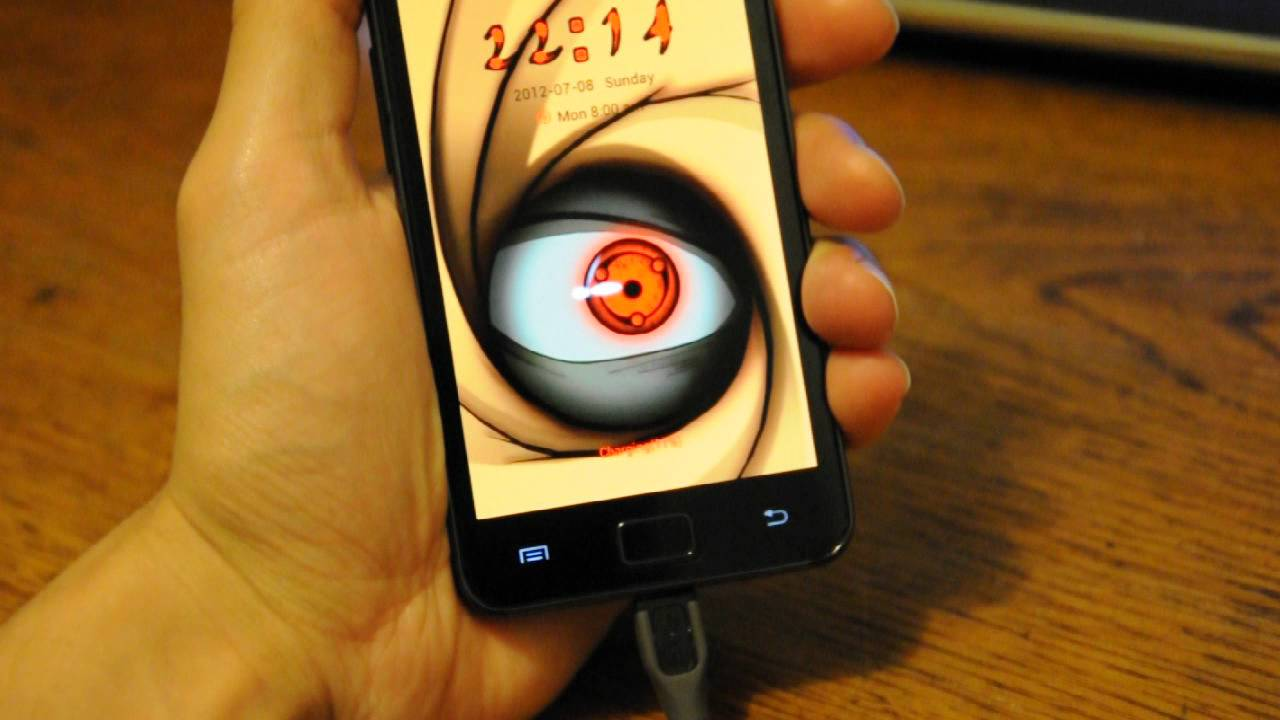 Madara Sharingan Locker Theme Android - YouTube