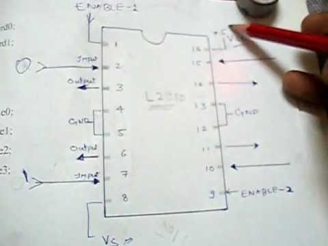 Pin diagram of l293d motor