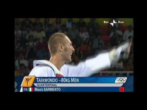 Olimpiadi, Pechino 2008, Mauro Sarmiento - Taekwondo