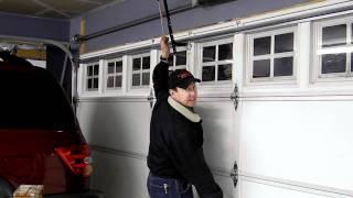 How to open garage door without power.