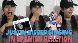 "JUSTIN BIEBER ""DESPACITO REMIX"" REACTION (Justin Bieber singing in Spanish) | Just Sharon"