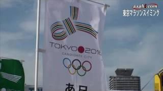 東京都港区のお台場海浜公園沖で09年8月20日、「東京マラソンスイ...