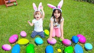 DESAFIO DO OVO SURPRESA - Easter egg Surprise Challenge, Outdoor activities with CLUBINHO DA LAURA !