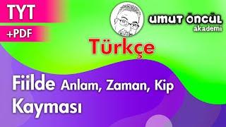 Türkçe | TYT | Fiilde Zaman Anlam Kip Kayması | +PDF