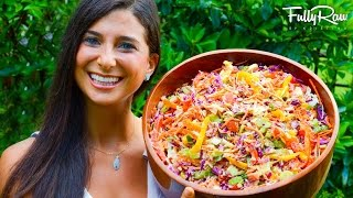 Rainbow Coleslaw With Fullyraw Mayonnaise!
