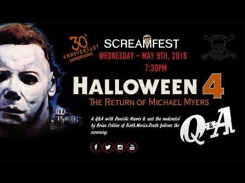 Screamfest Halloween 4 Anniversary Screening Q&A with Danielle Harris