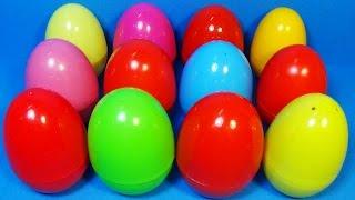 12 surprise eggs! Disney Cars MARVEL Spider Man My Little PONY Thomas LPS Disney PRINCES mymillionTV