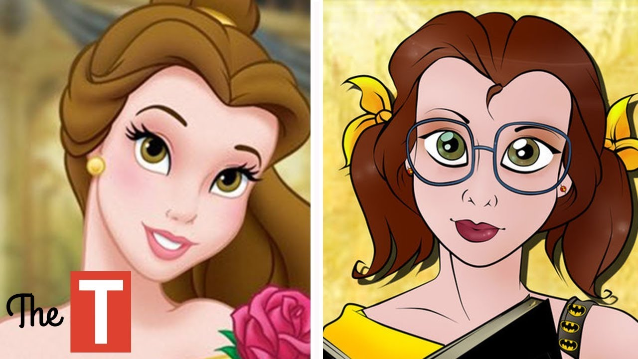10 disney princesses reimagined as college students youtube