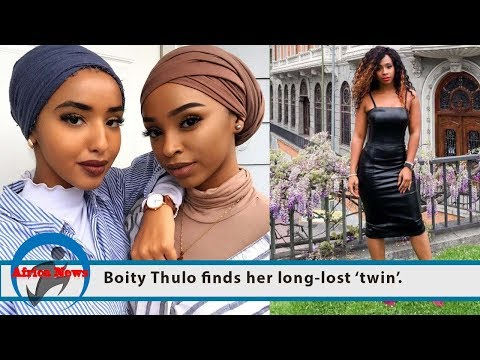 Boity Thulo finds her long-lost 'twin'.