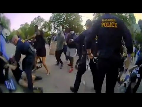 Raleigh police release body camera video showing confrontation with protesters on June 18