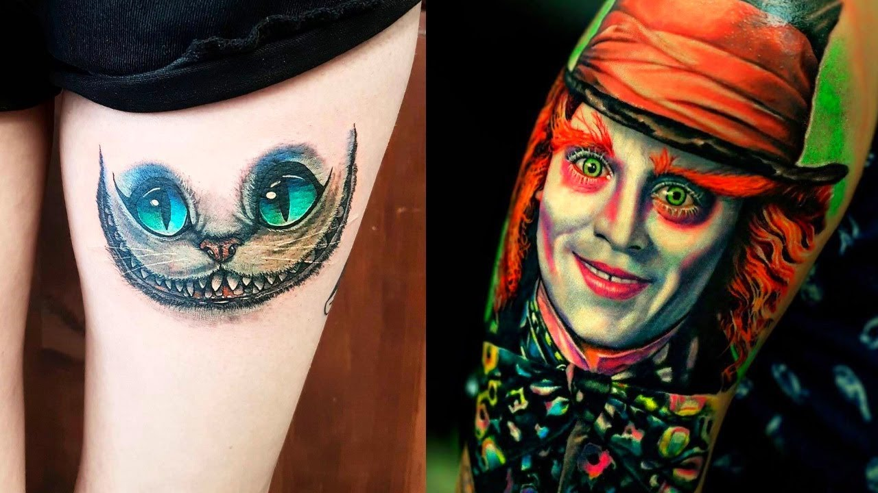 The Most Madness Alice In Wonderland Tattoos Youtube