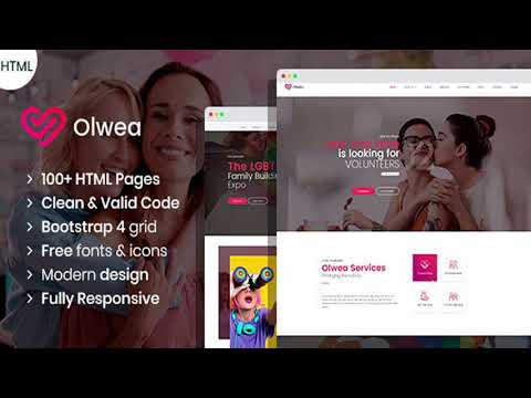 Olwea - LGBT Community HTML template | Themeforest Website Templates and Themes from YouTube · Duration:  21 seconds