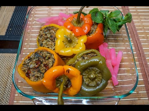 How to Make Persian Stuffed Bell Peppers, Dolmeh Felfel | Tasty Iranian Food Recipe