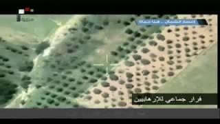 شاهد بالفيديو || هروب جماعي لمسلحي هيئة تحرير الشام امام تقدم نمور الجيش السوري في ريف حماة الشمالي