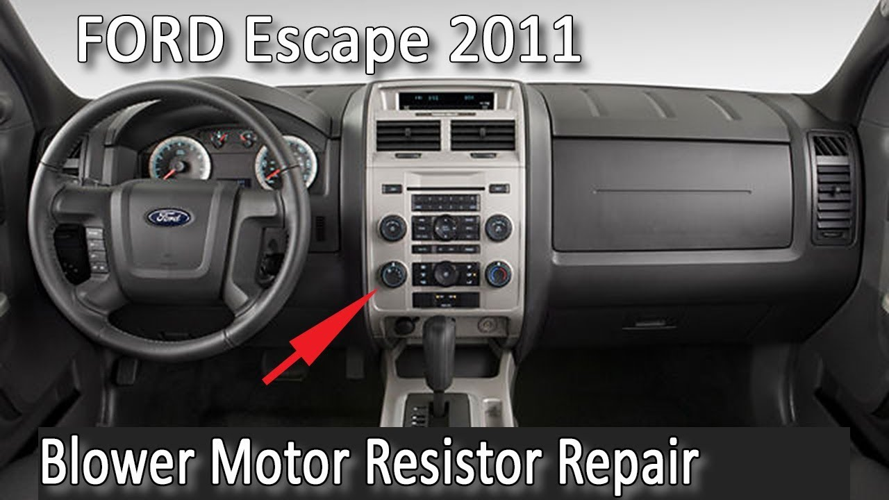 Repairing the blower motor resistor on ford escape 2011 youtube repairing the blower motor resistor on ford escape 2011 freerunsca Images
