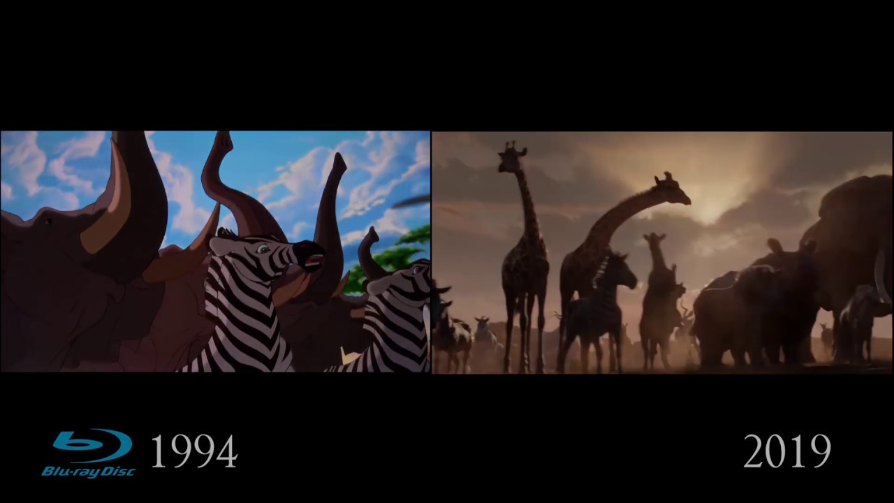 The Lion King 20 Bluray vs 20 NEW   Official Trailer ...