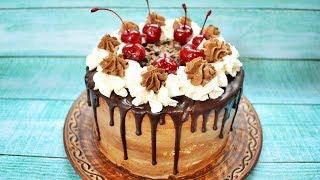 """Шварцвальдский торт """"Черный лес"""" -  шоколадно-вишневое наслаждение!"""