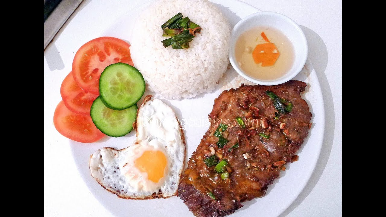 Vietnamese Grilled Pork Chop With Broken Rice Com Tam Suon Nuong Youtube