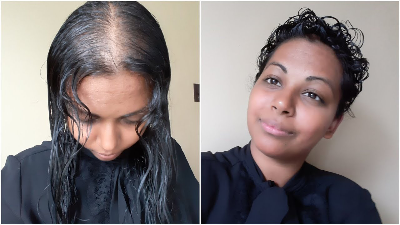 Style My Thin Hair With Me Long Thin Hair To Short Curly Hair Youtube
