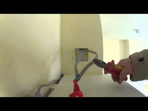 Cutting a live a electric cable. GoPro Hero2