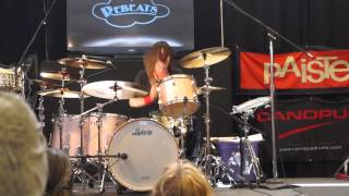 Jason Sutter drum clinic at the Chicago Drum Show 2014 playing Marilyn Manson Little Horn