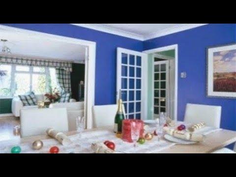 Desain Kombinasi Warna Cat Biru Untuk Ruang Tamu Masa Kini