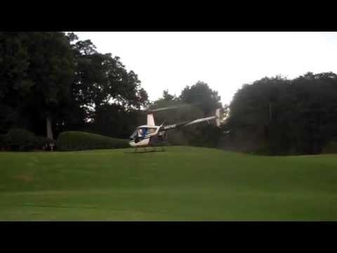 Golf Balls Drop from Helicopter
