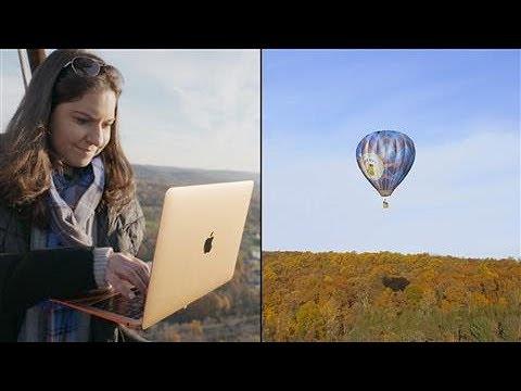 New Apple MacBook Air 2018 Reviewed in a Hot Air Balloon