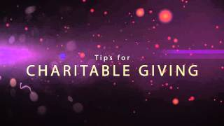 Consider This: Charitable Giving