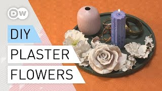 DIY - How to make Plaster Flowers  Tutorial quick and easy