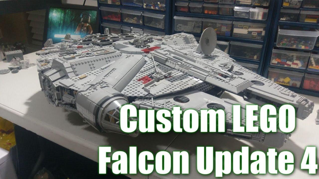 Custom Lego UCS Millenium Falcon: Update 4 - YouTube