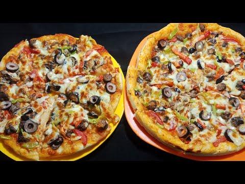 صورة  طريقة عمل البيتزا البيتزا الخطيره مش هتشتريها من برا تاني😋😋روعه طريقة عمل البيتزا بالفراخ من يوتيوب