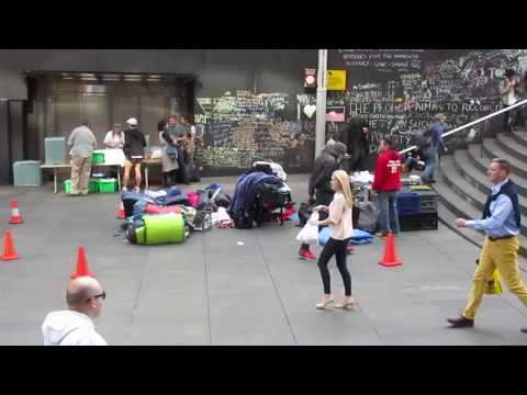 Martin Place homeless prepare to leave as Lanz Priestly fronts media