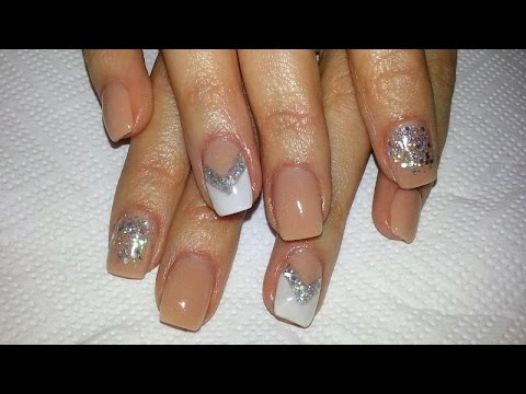 elegant and cute acrylic nail design