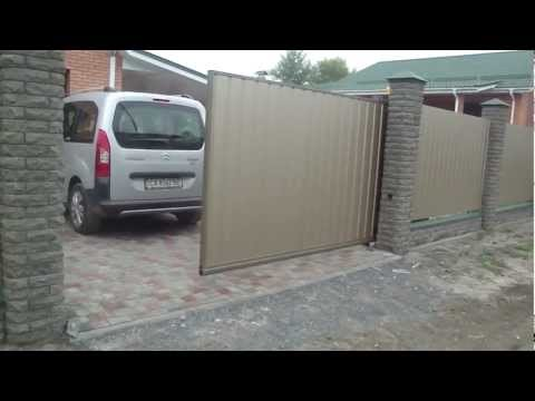 Ворота и калитки из профнастила и сетки рабицы