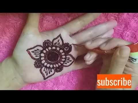 Tutorial Melukis Henna Di Telapak Tangan Simple Tapi Eleganta Hennaart Populer Viral Amazing Youtube